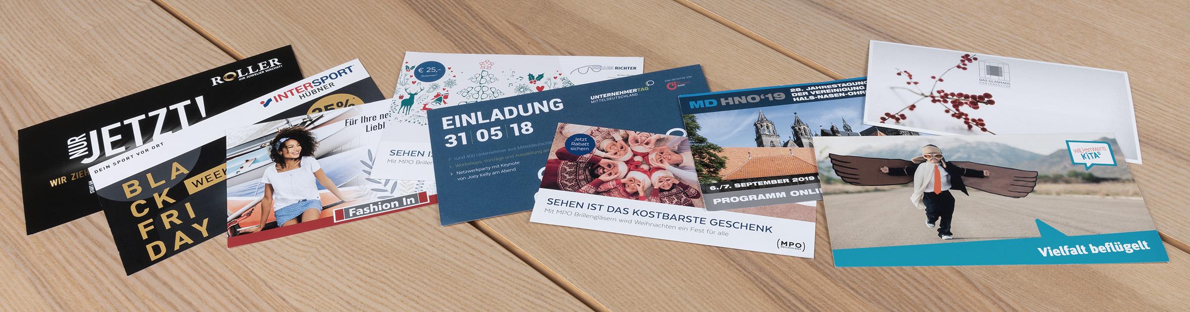 Postkarten Mailing Beispiele von siblog